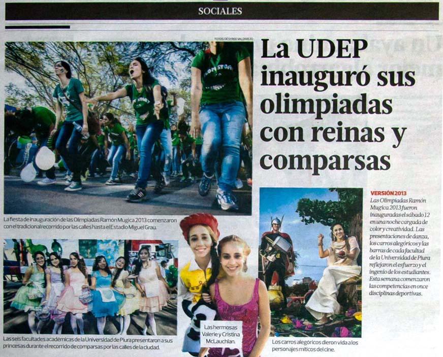 Universidad de Piura inauguro sus olimpiadas con reinas y comparsas