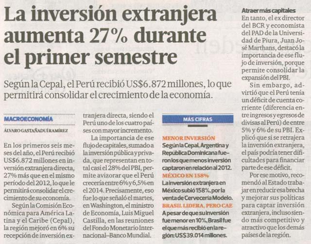inversion extranjera aumenta