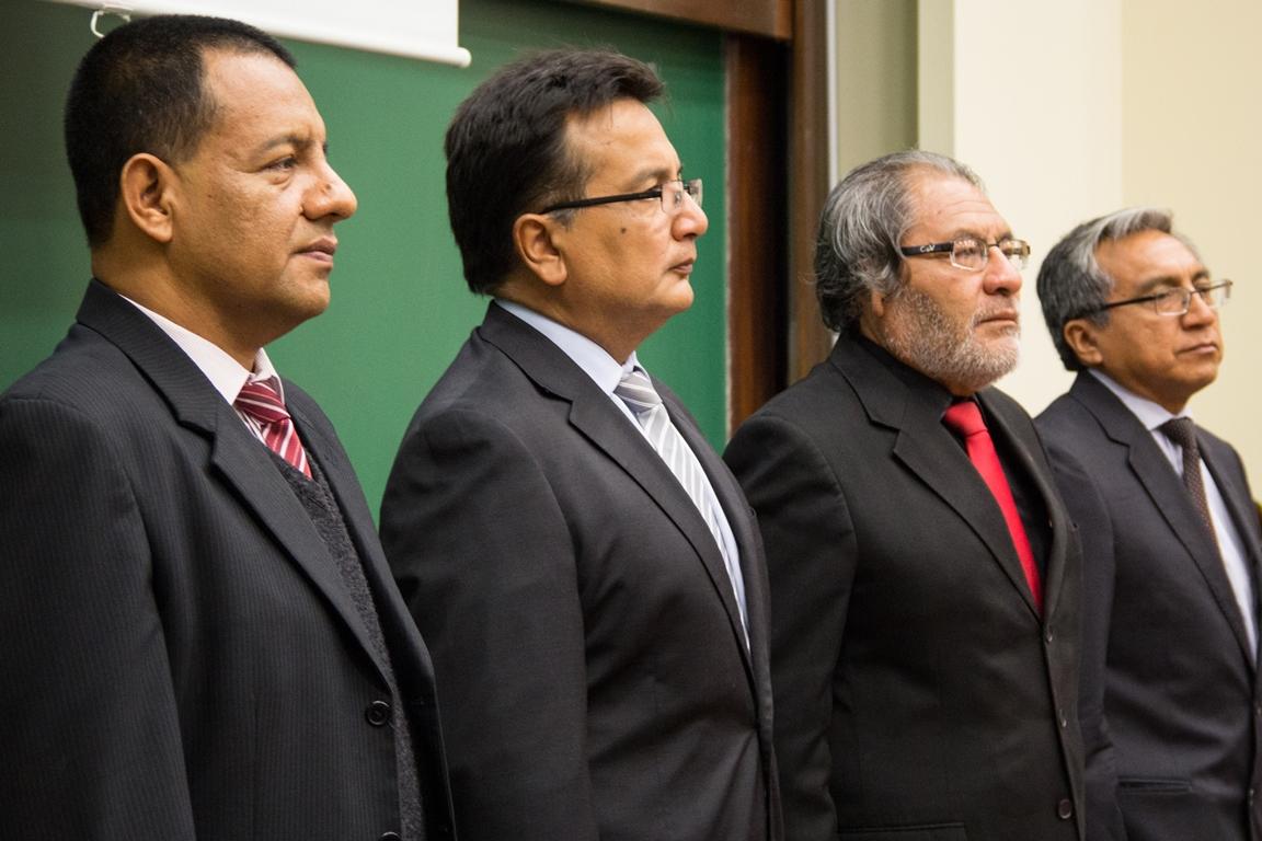 En la inauguración de la Maestría estuvieron presentes Camilo García, decano de la Facultad de Educación, Sergio Balarezo, rector de la Universidad de Piura, Guido Chávez, jefe regional del Pronabec, y Jorge Viera, director del departamento de Proyectos.